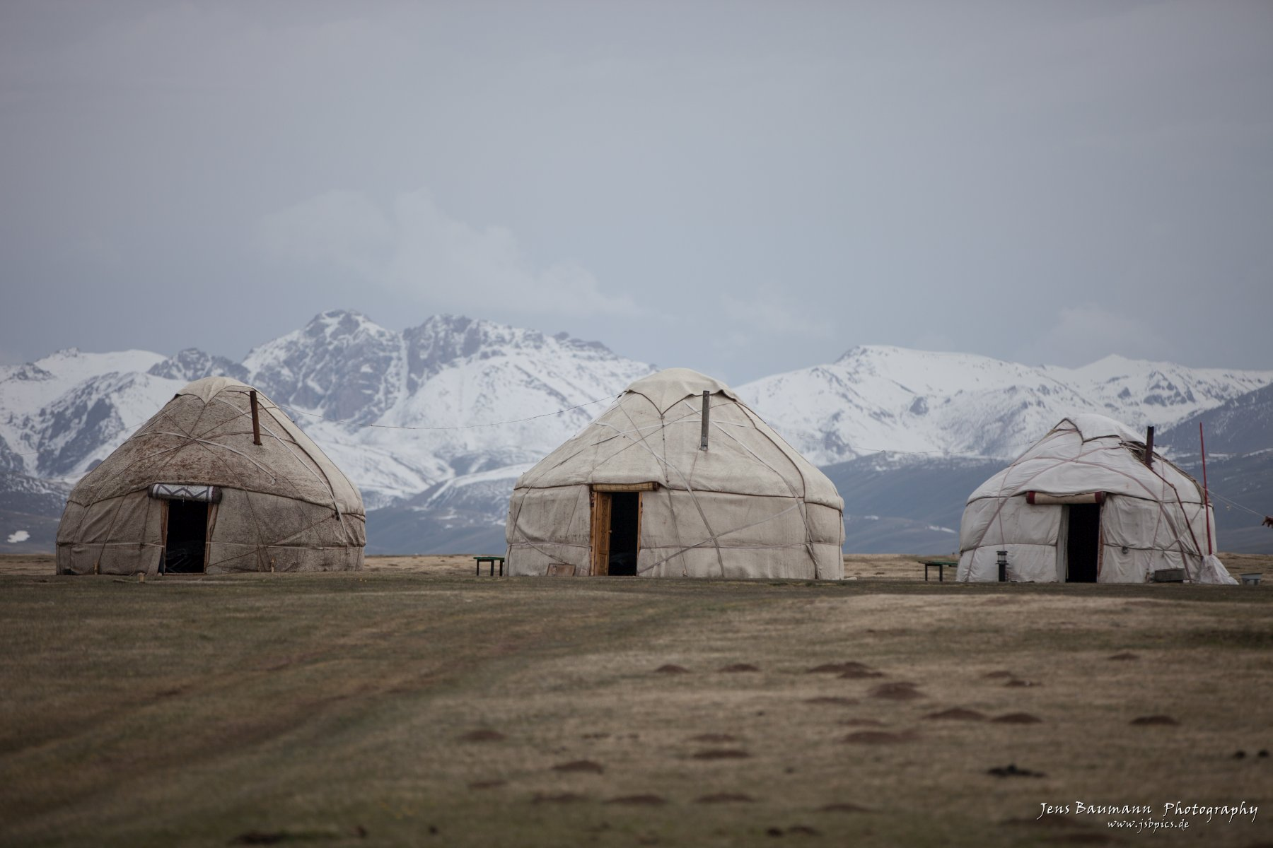 Yurts at Song Kul