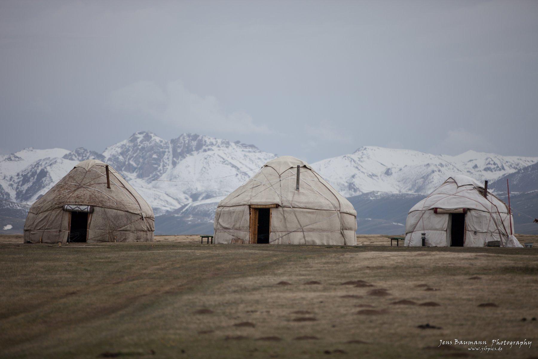 Yurts at Song Kul