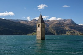 Bell Tower - Reschen Lake