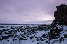 Thingvellir National Park in winter