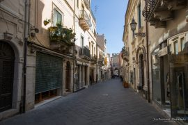 Main shopping street in Taormina
