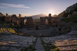 Greek Theatre Taormina - sunset