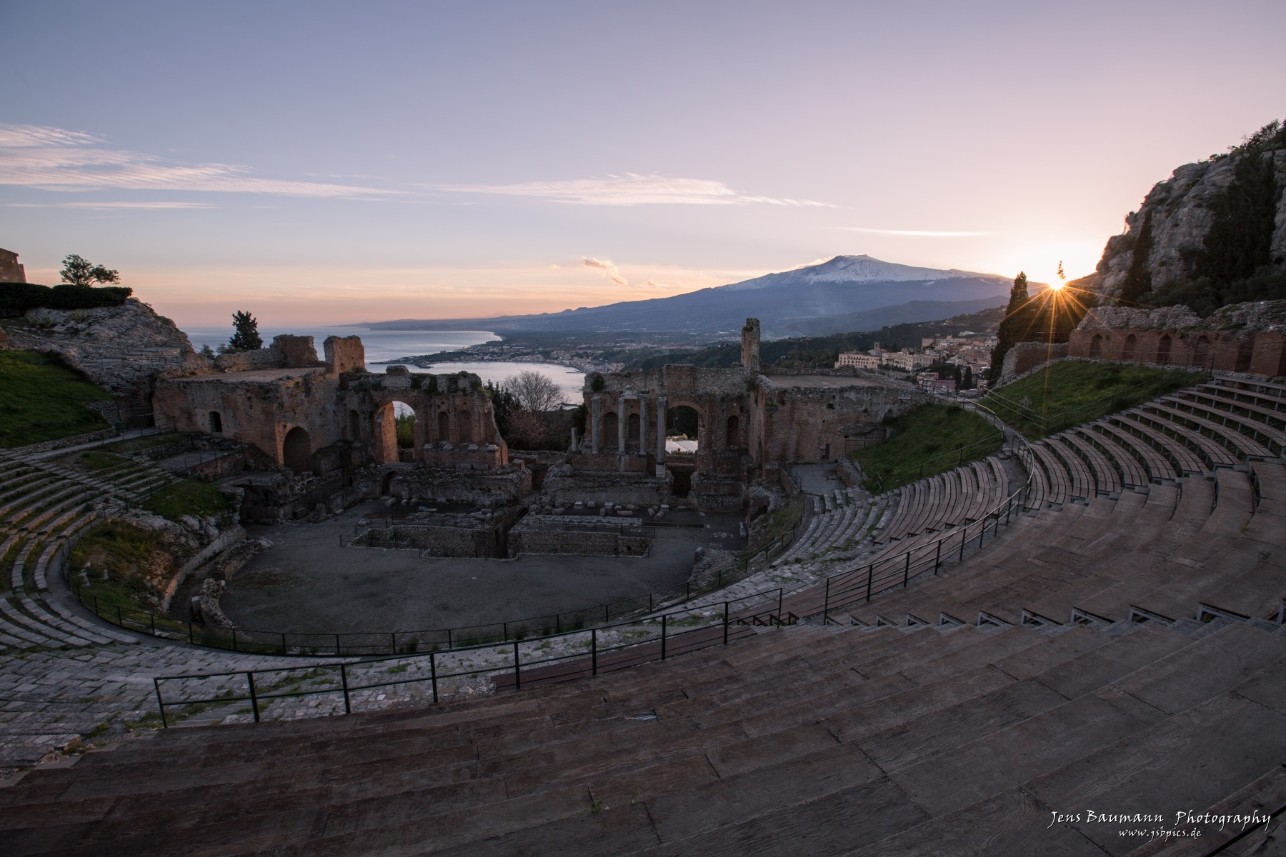 Greek Theatre Taormina - sunset