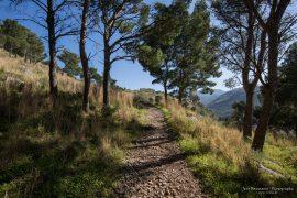 Hiking uphill in Cefalu