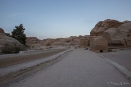 Entrance to Petra early morning