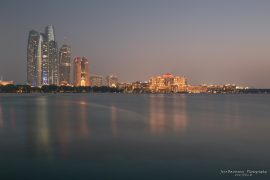 Skyline Abu Dhabi with Emirates Palace