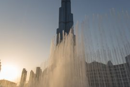 Burj Khalifa with Fountain