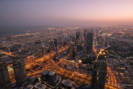 Morning view from Burj Khalifa