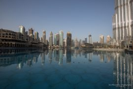 Dubai Fountain in the morning