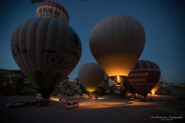 Start of the balloon ride