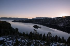 Lake Tahoe - Emerald Bay in winter