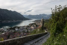 stairs up to the Castle of Kotor