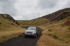 Driving into Holaholar crater