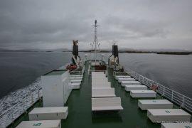 onboard the Baldur Ferry