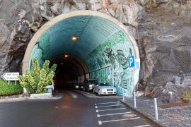 Parking in an old tunnel